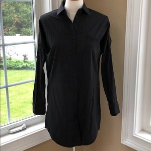 Long black shirt Size small Nasty Gal long sleeve